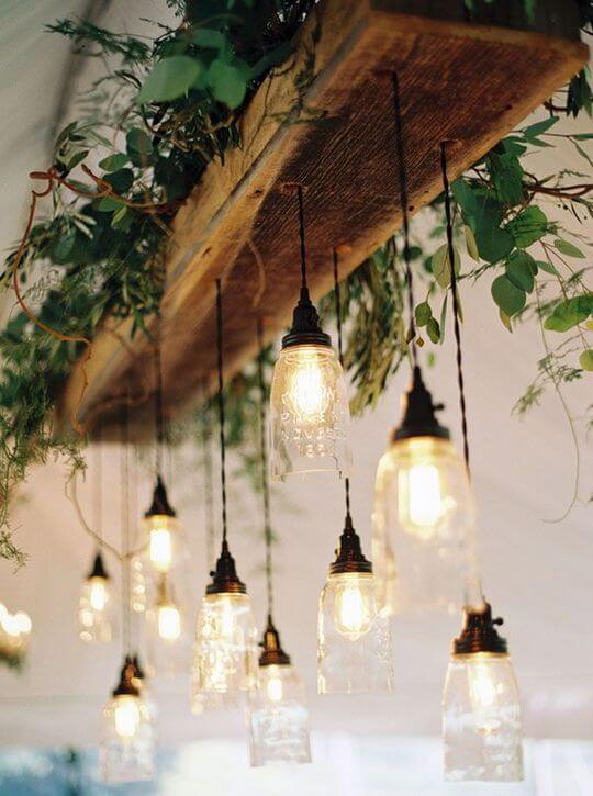 Farmhouse Lighting Designs & Ideas: Breathtaking diy wooden lamp