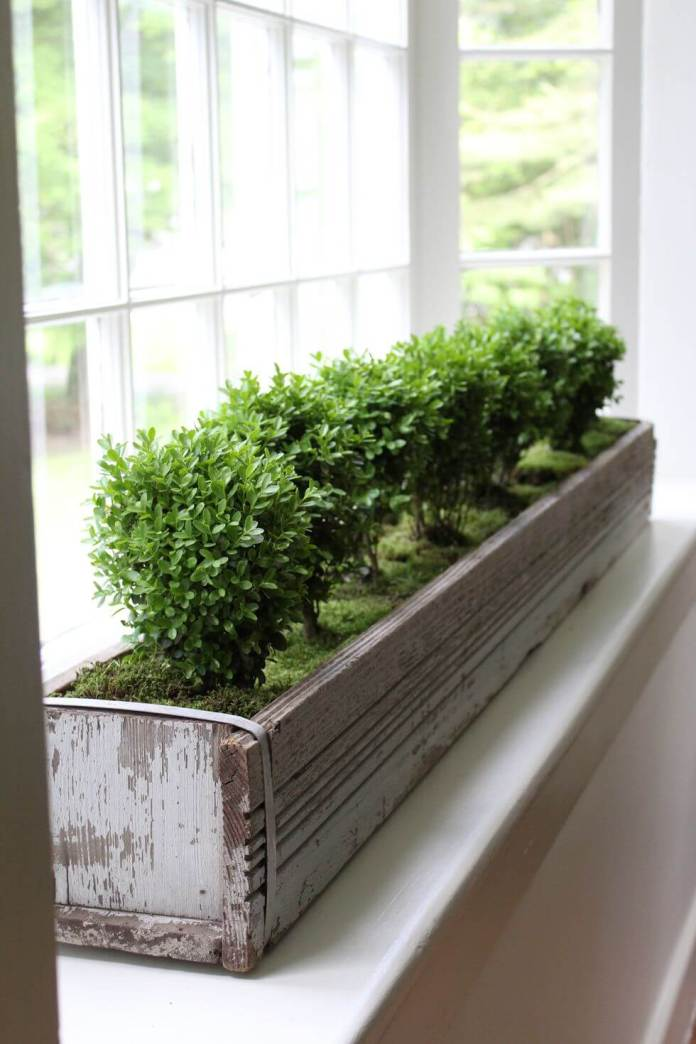 Wooden window box | Best Farmhouse Indoor Plant Decor Ideas & Designs