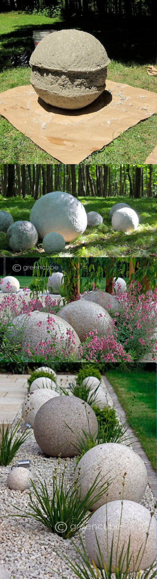 Giant concrete balls | Best DIY Garden Globe Ideas & Designs