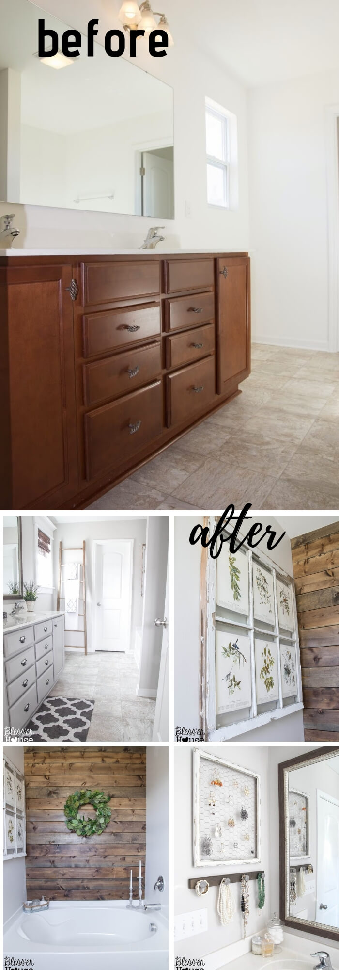 Master Bathroom Budget Makeover (Under $400)