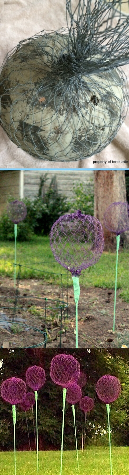 Giant Allium Chicken Wire Flowers | Best DIY Garden Globe Ideas & Designs