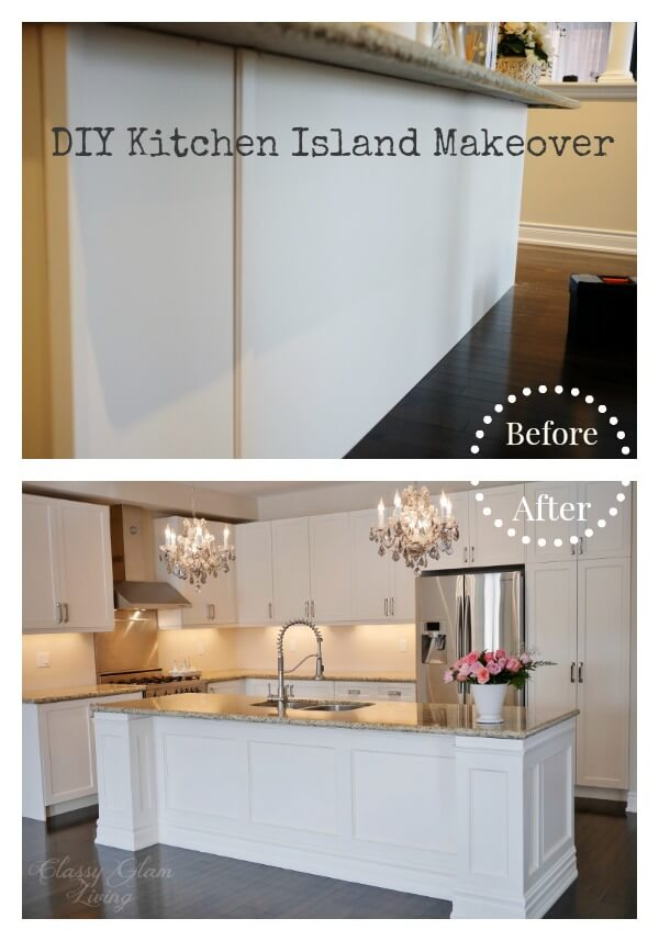 DIY kitchen island makeover | Amazing Wainscoting Ideas for Your New Home