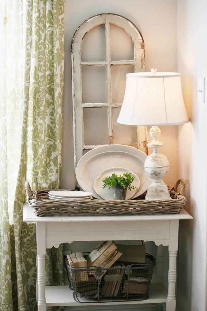 Farmhouse Lighting Designs & Ideas: White Vintage Table Lamp