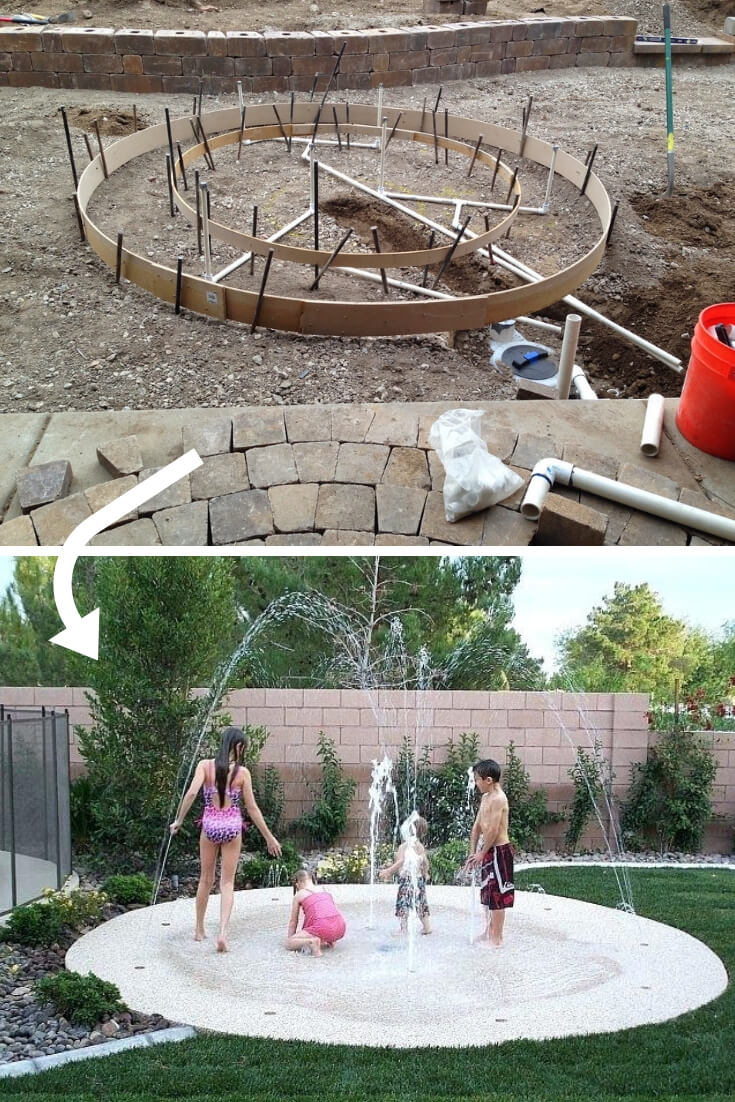 Backyard Paver Project and Splash Pad | DIY Backyard Projects For Summer | FarmFoodFamily
