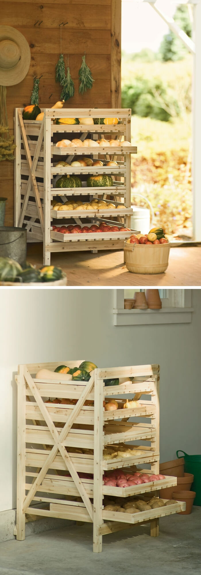 Vegetable Storage Rack | Best Fruit and Vegetable Storage Ideas For Your Kitchen