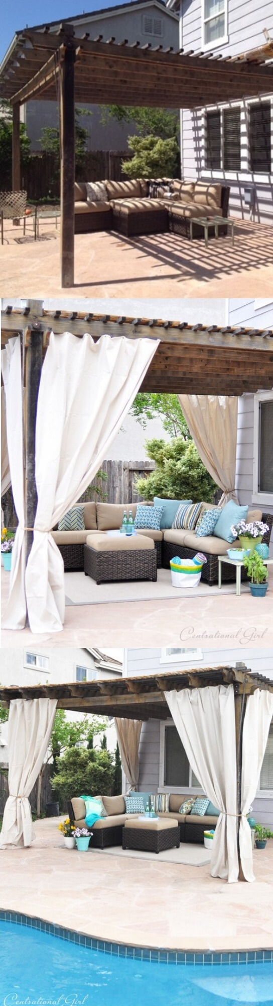 DIY Grommet Top Outdoor Curtains