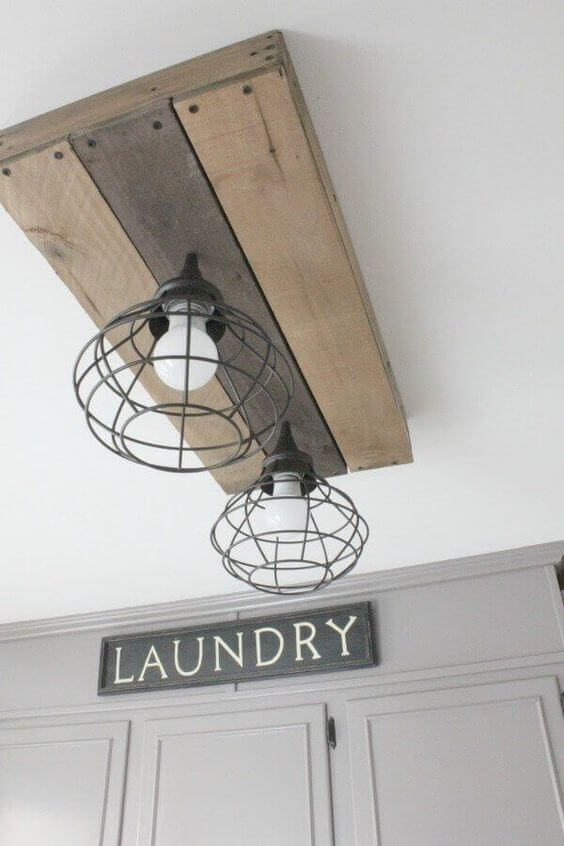 DIY Farmhouse Laundry Room Ideas: Lighting Fixture