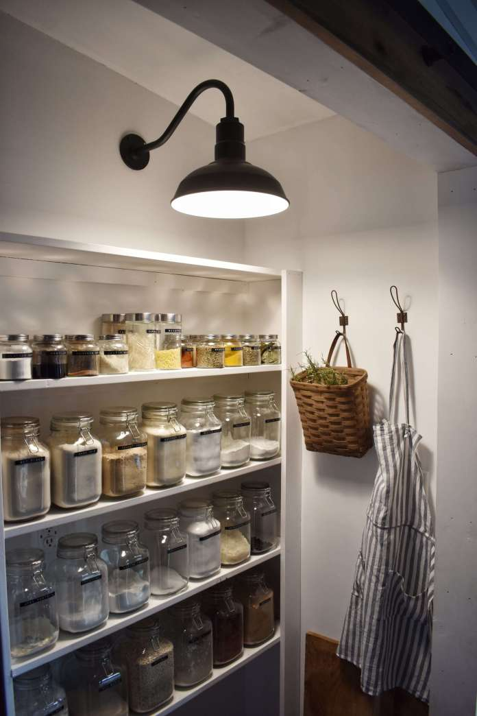 Farmhouse Lighting Designs & Ideas: Gooseneck Light for Pantry