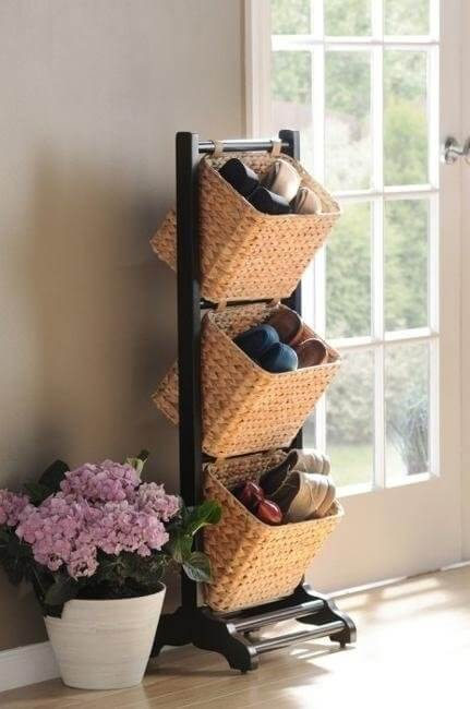 Shoe Hanging Baskets | Smart Shoe Storage Ideas & Designs For Any Zoom Size