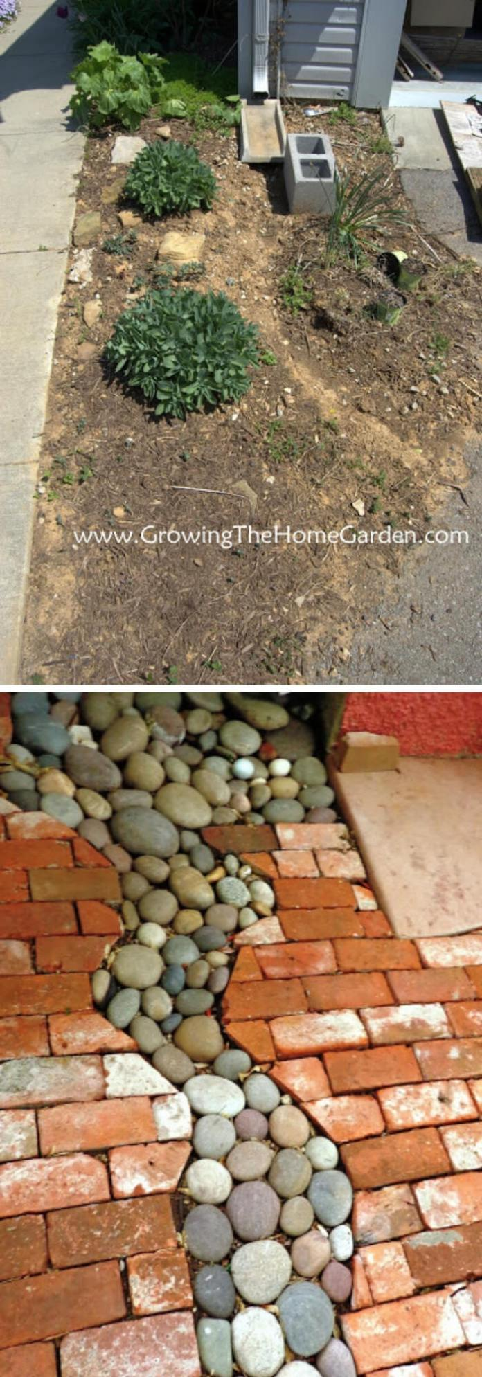 Making A Dry Creek Bed Drainage Canal for Downspouts | Best Downspout landscaping ideas