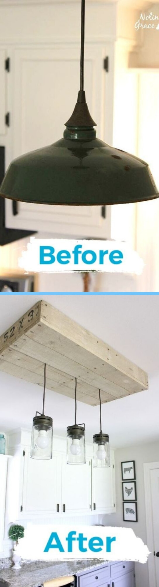 Farmhouse Lighting Designs & Ideas: Farmhouse Pallet Kitchen Light Box