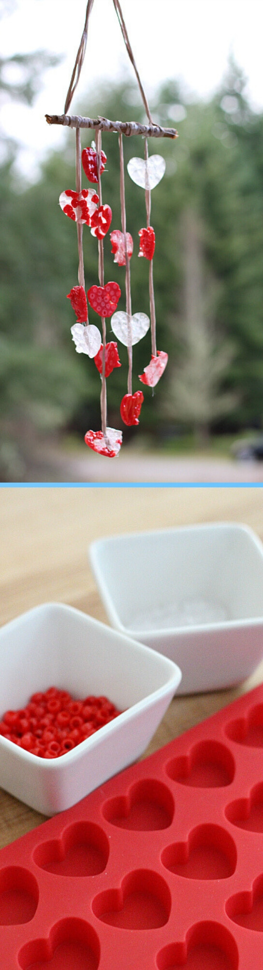 DIY Melted Bead Craft Wind Chimes