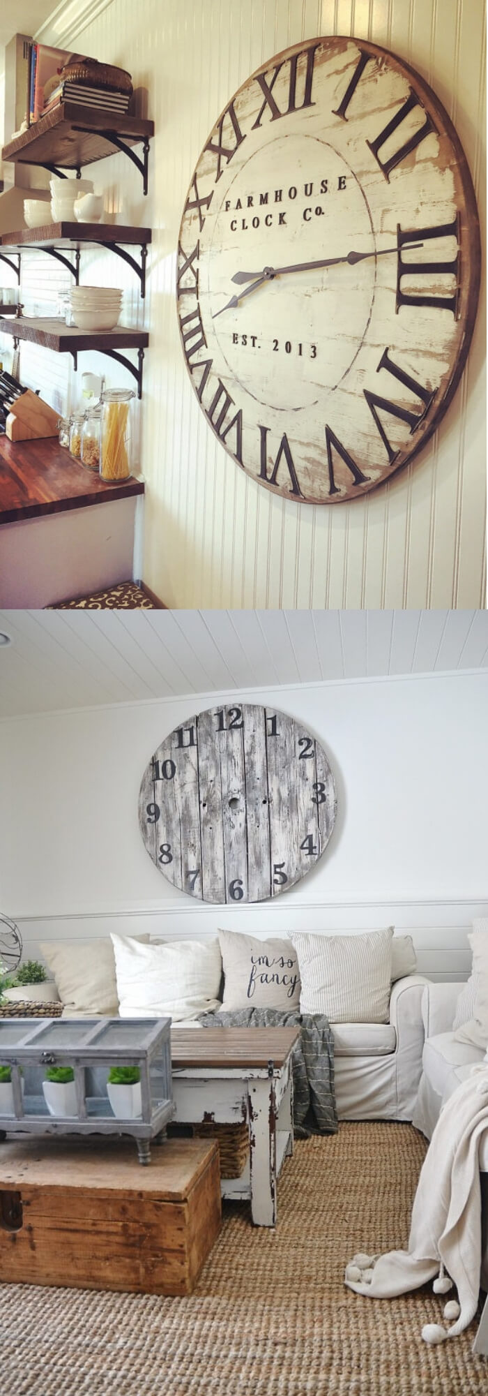 Old clock | Stunning Farmhouse Dining Room Design & Decor Ideas