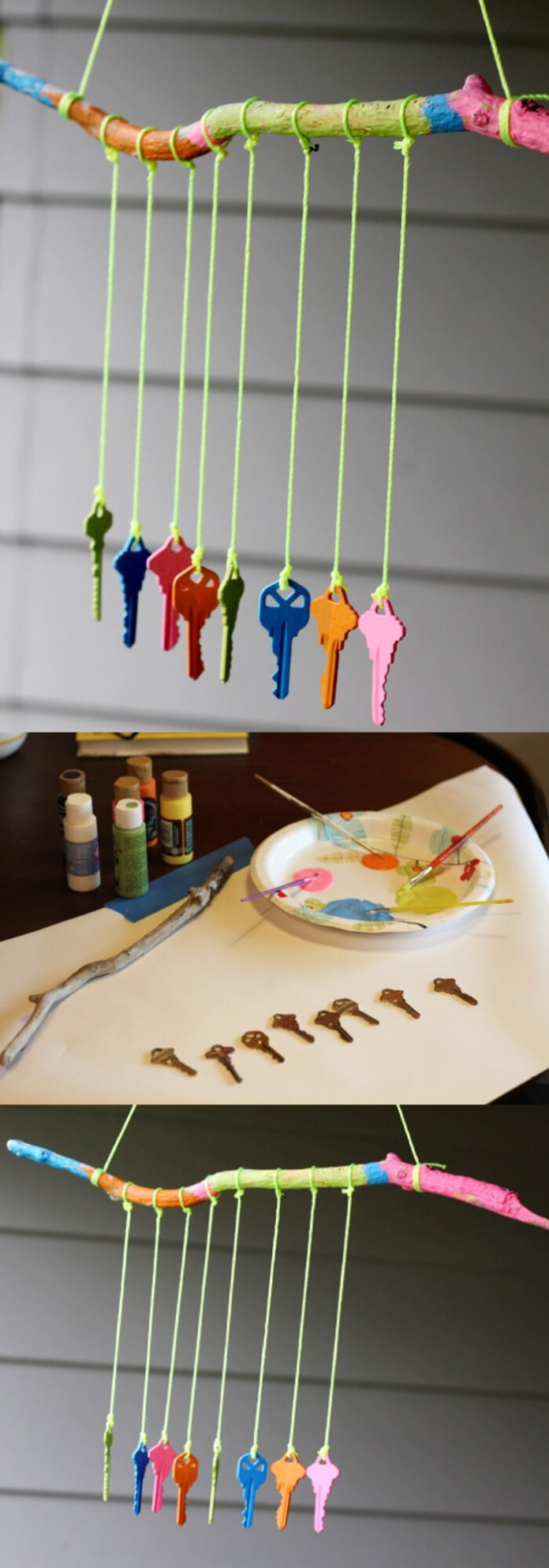 DIY Key Wind Chime for Kids