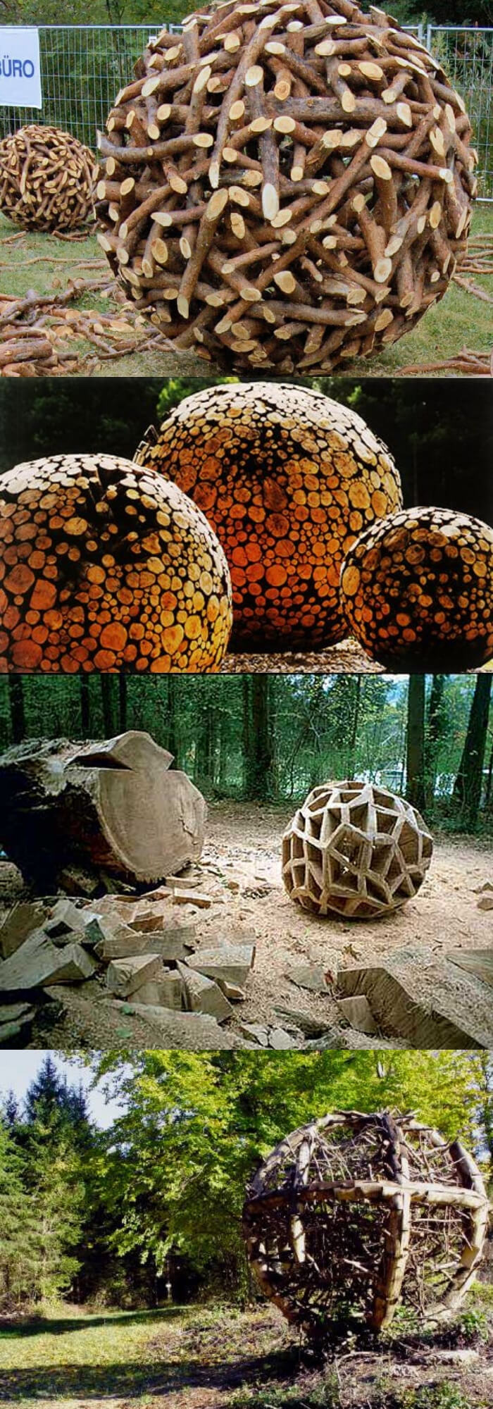 Wood spheres | Best DIY Garden Globe Ideas & Designs