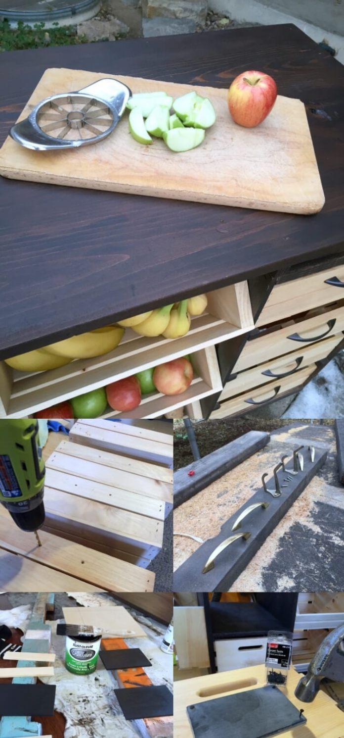 Kitchen Island with Pantry Storage | Best Fruit and Vegetable Storage Ideas For Your Kitchen