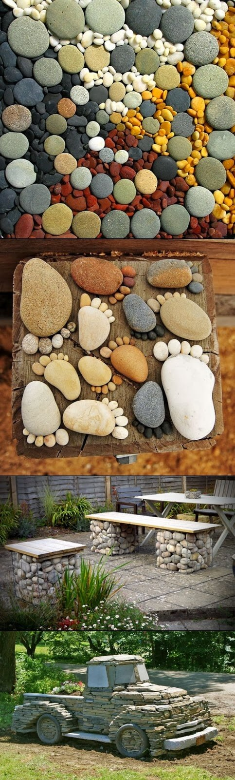 DIY Ideas To Upgrade Your Garden: Easy Garden DIY Projects with Stones