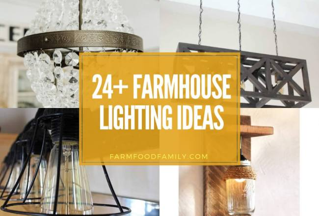 24+ Stunning Farmhouse Lighting Designs &...