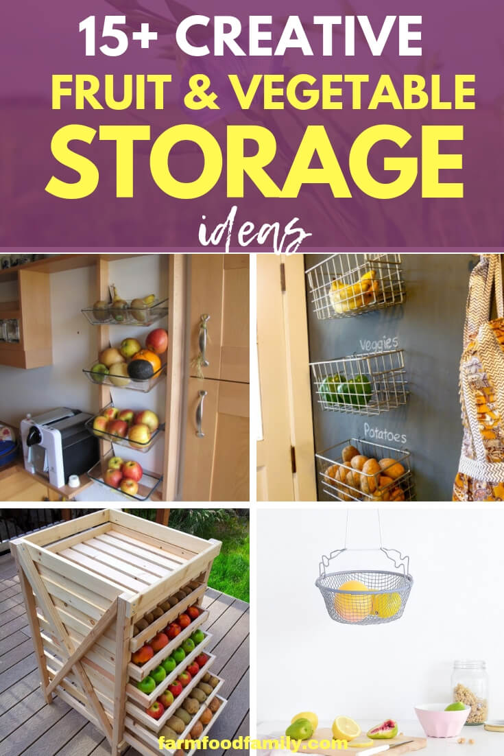 Best Fruit and Vegetable Storage Ideas For Your Kitchen