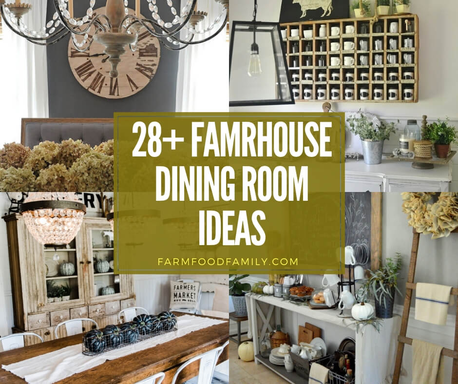 37 Stunning Christmas Dining Room Décor Ideas: 28+ Stunning Farmhouse Dining Room Decor & Design Ideas