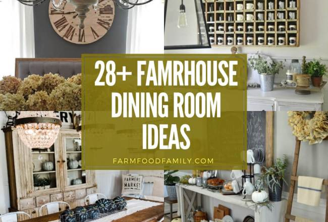 28+ Stunning Farmhouse Dining Room Design & Decor...