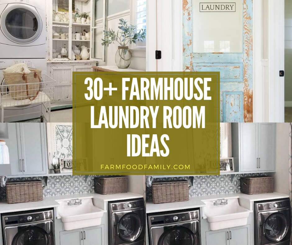 30 Stunning Farmhouse Laundry Room Designs Ideas For 2020