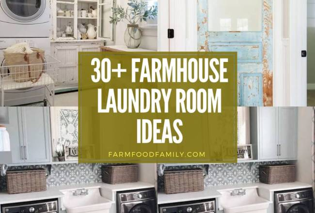 30+ Best Farmhouse Laundry Room Designs &...