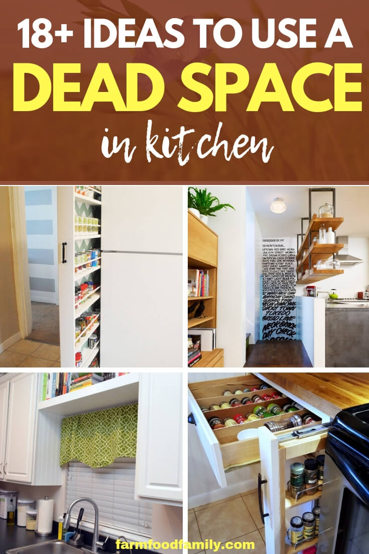 18+ Kitchen Storage Ideas To Use a Dead Space