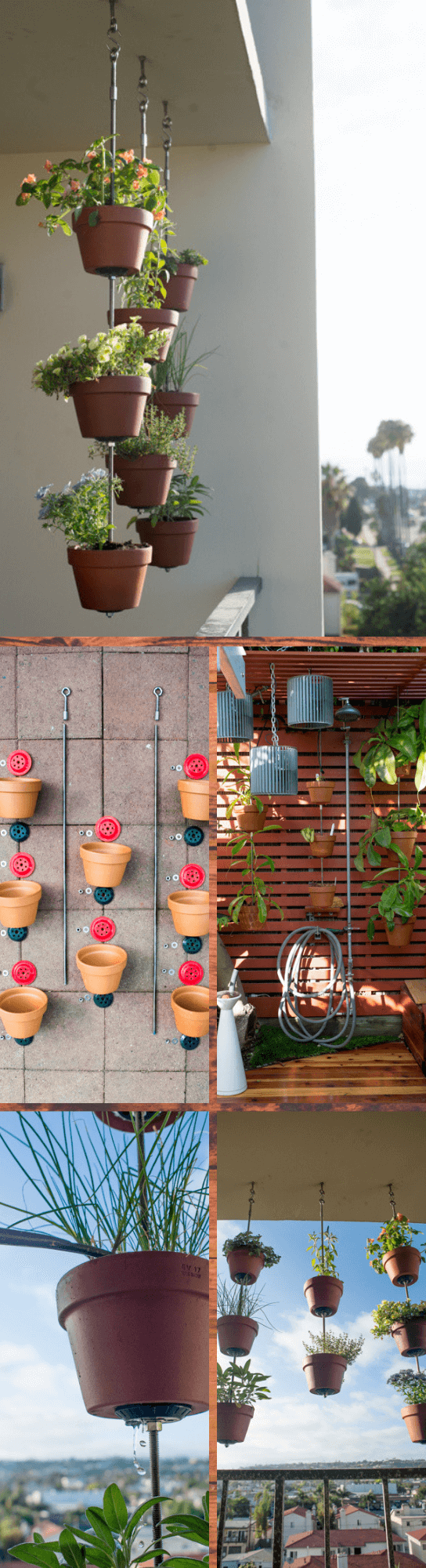 DIY vertical clay pots
