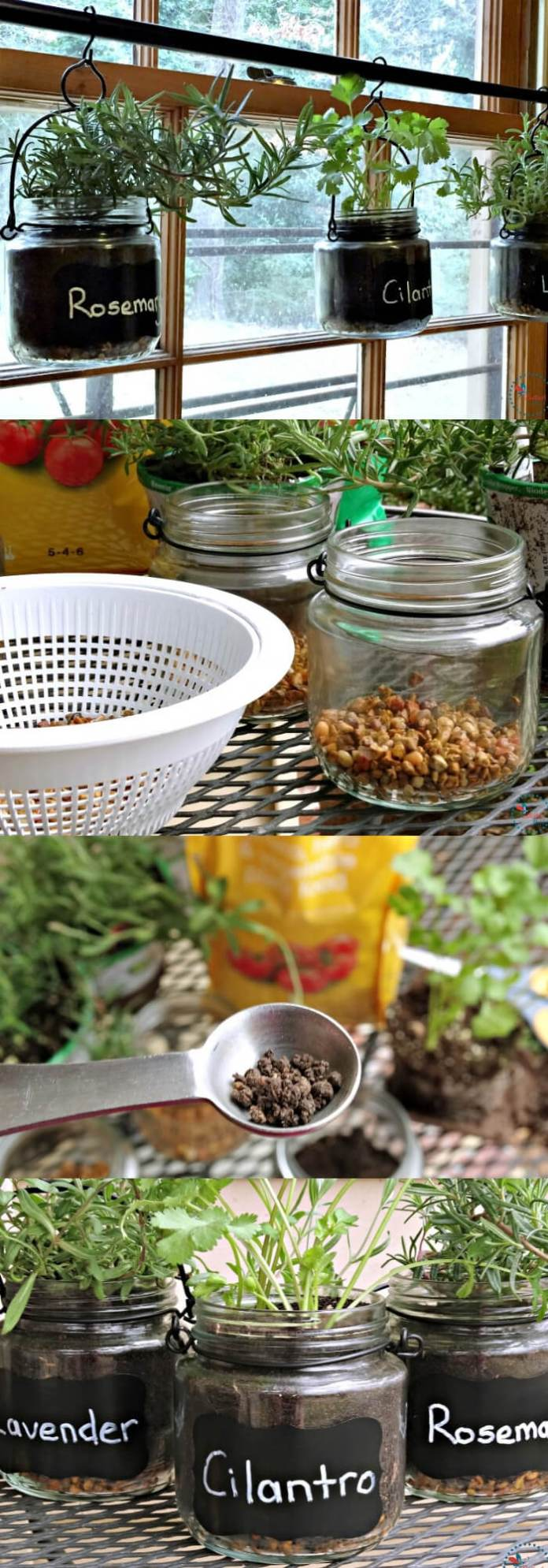 DIY Indoor Hanging Herb Garden with EcoScraps