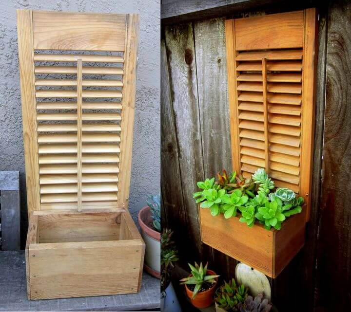 Old Shutter Outdoor Decor Ideas Succulent Planter