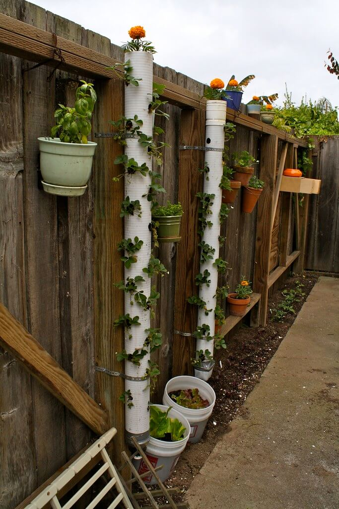 DIY PVC Pipe Planters for Your Garden Strawberry tower