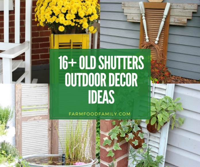 best old shutter outdoor decor ideas