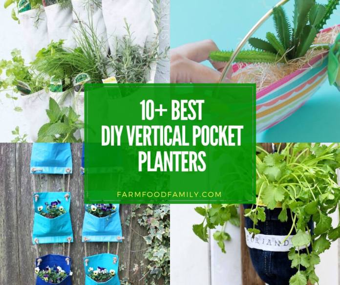 best vertical pocket planter ideas