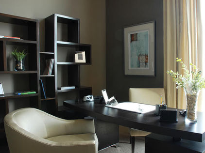 Black stylish Office Shelving Ideas