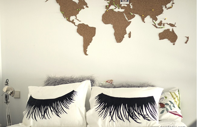cushions with eyelashes