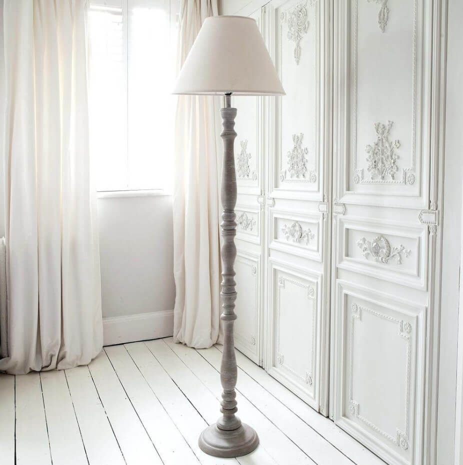 Hastings Lime Washed Floor Lamp