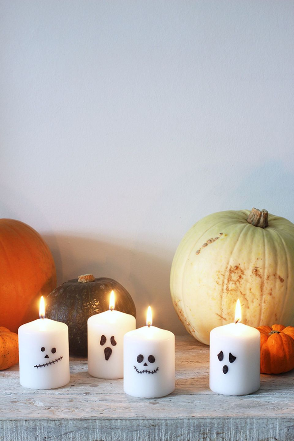 Ghost candles for halloween