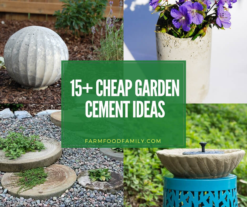 Cheap Gardening Ideas: 15+ Cheap Garden Cement Projects You Will Enjoy This