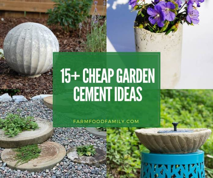 best garden cement projects on low budget