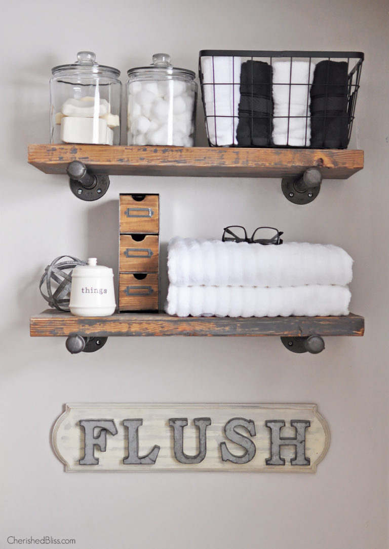 Industrial farmhouse bathroom sign