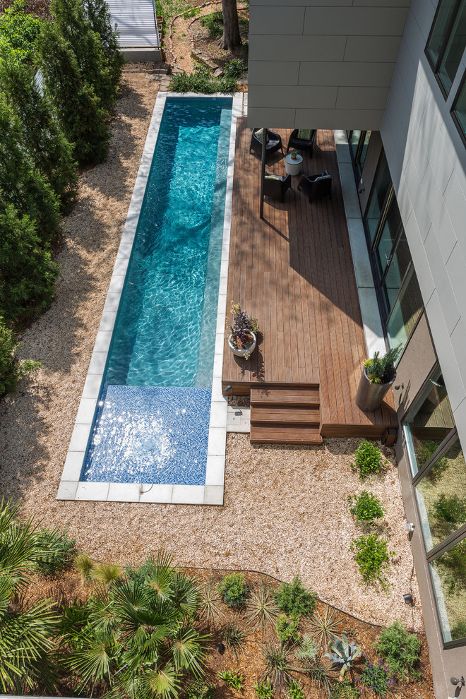 Large deck with pool