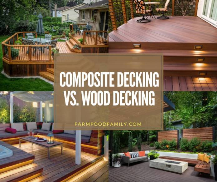 Composite decking vs wood decking