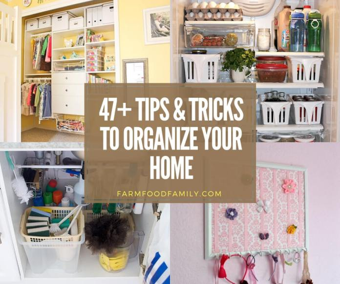 best tips and tricks to organize your home