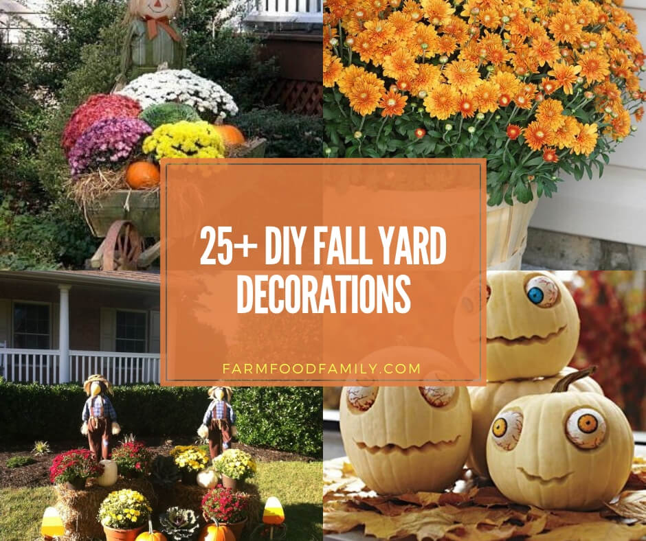 12+ Best Fall Yard Decor Ideas and Designs (Pumpkins, Leaves) For 12