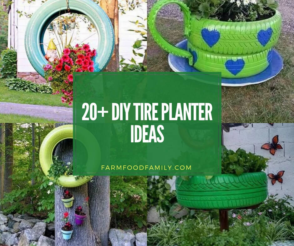Lovely 20 Cottage Style Landscaping Ideas To Enhance Your: 20+ Best DIY Tire Planter Flower Pot Ideas & Projects For 2020