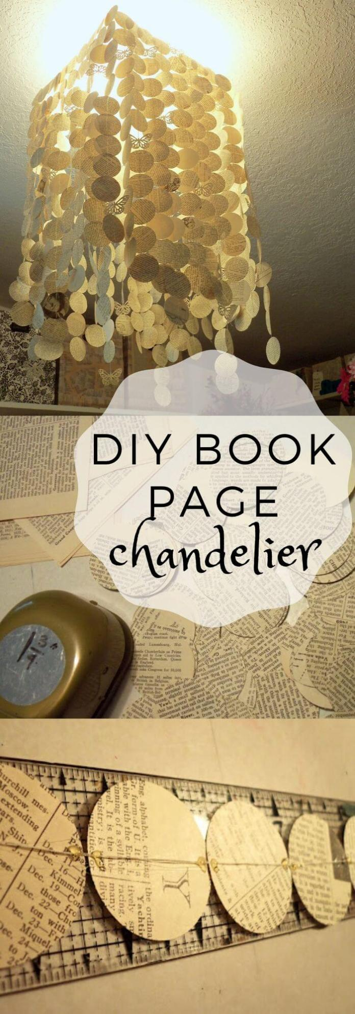 Make a Chandelier from book