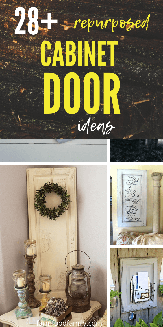 28 Creative Repurposed Cabinet Door Ideas Projects With Instructions