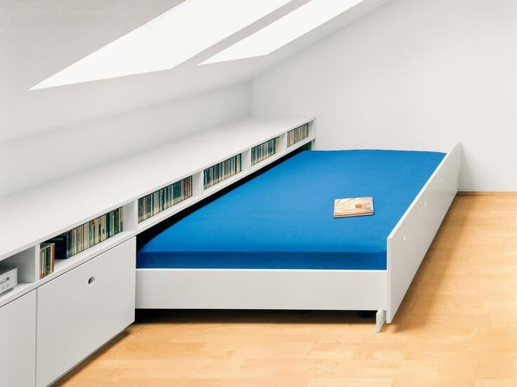 Attic beds with Drawers for clothes