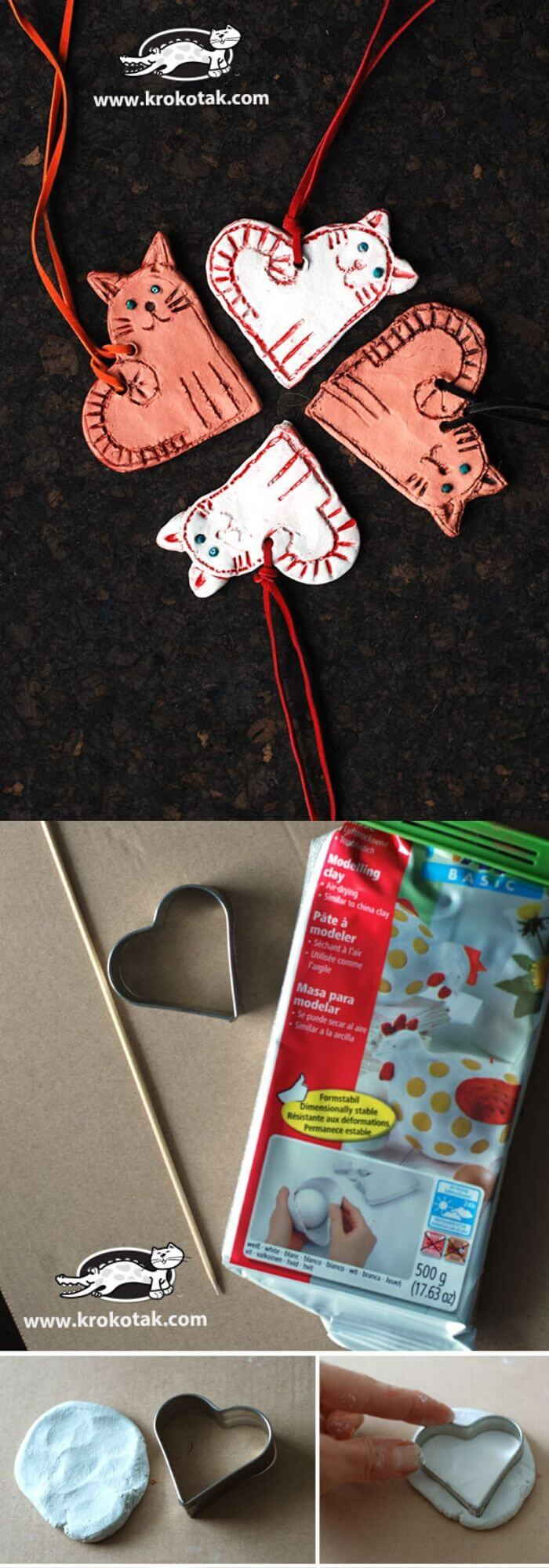 Heart-shaped cats | Heart-Shaped Crafts For Valentine's Day